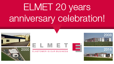 Elmet Elastomere News 2016 - 20 years anniversary celebration in Oftering (Upper Austria - Linz)