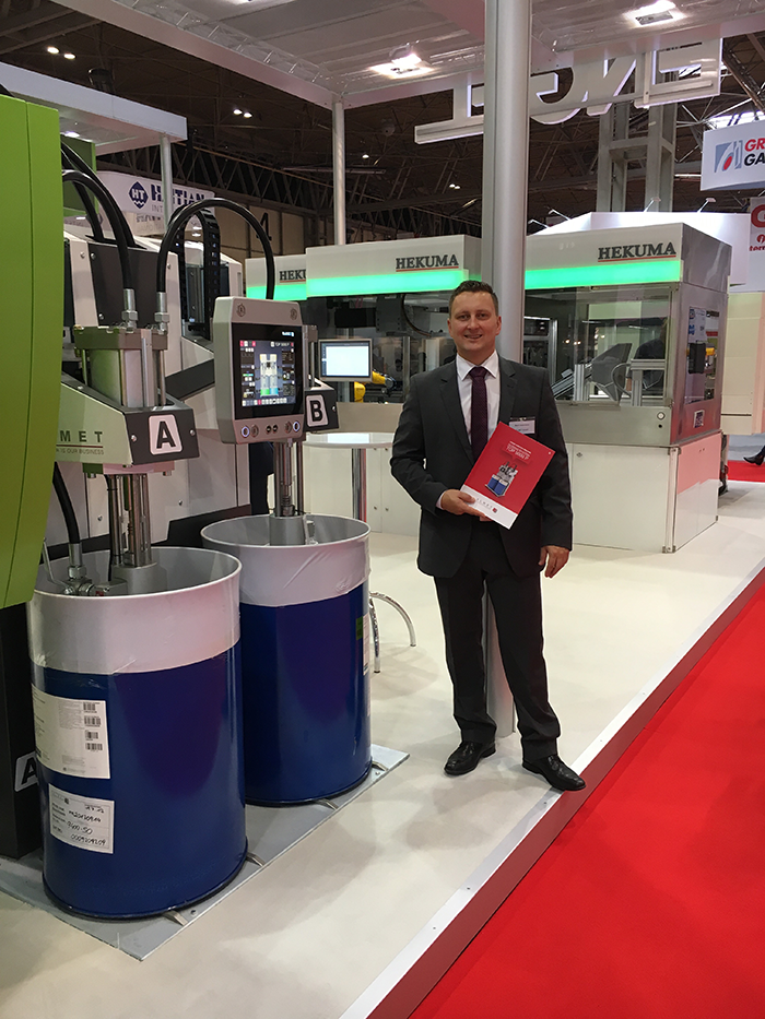ELMET Sales Engineer Marc Ostermann at the Interplas 2017 in Birmingham-small
